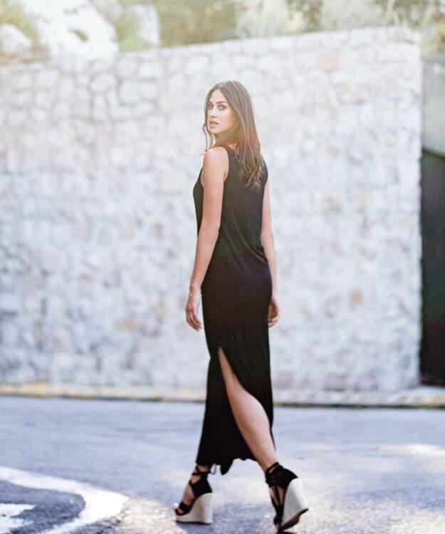 Maxi Black Dress Noelani
